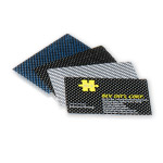 Black 3K woven carbon fiber business card including printing